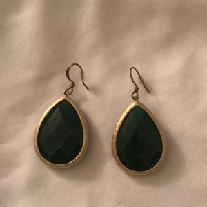 Jewelry - Green and Gold Hanging Earrings
